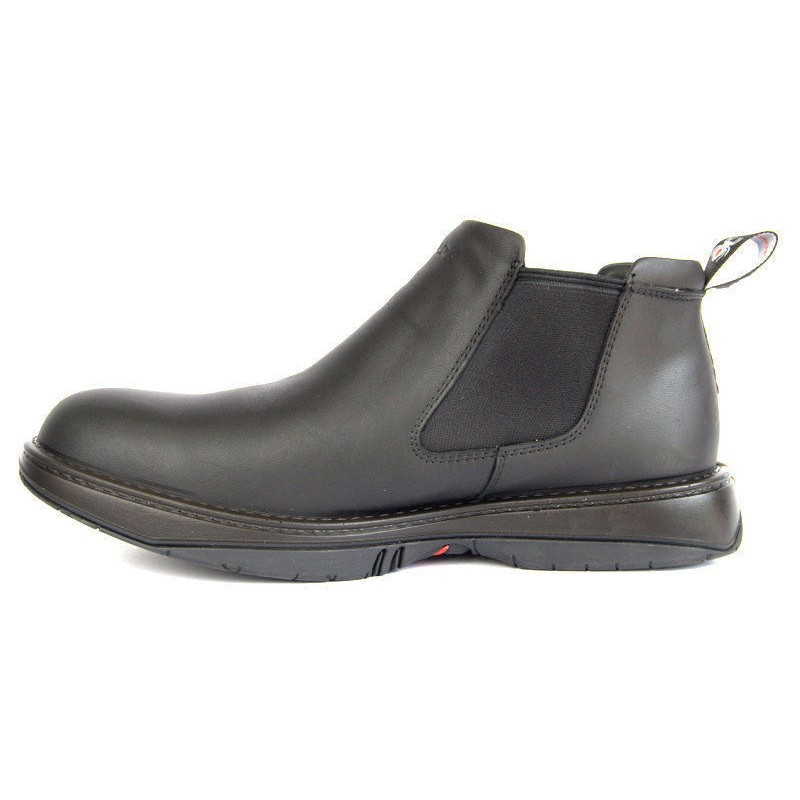 Redback Work Boots Rrbn Retro Soft Toe Black Slip On