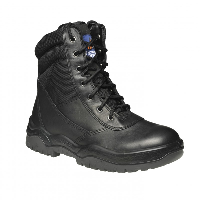 Mongrel 251020 Work Boots 8inch Steel Toe Safety Black