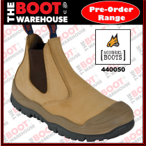 Mongrel 440050, Work Boots. Steel Toe Safety. Wheat. Elastic Sided - Pre Order