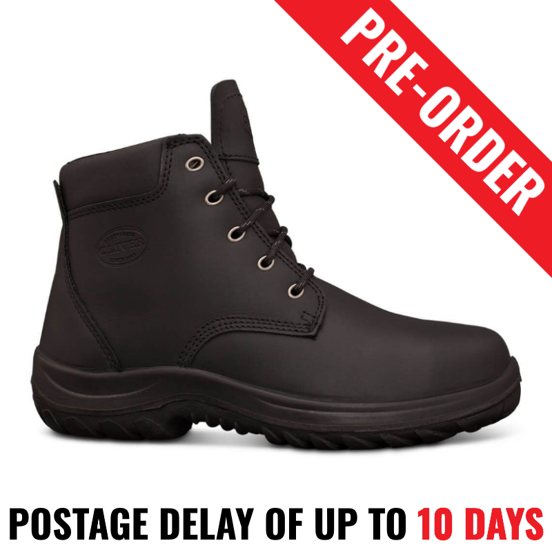 993ad9a8c0c Oliver Work Boots 34634. Steel Toe Safety. Black Lace-Up Ankle Boot ...