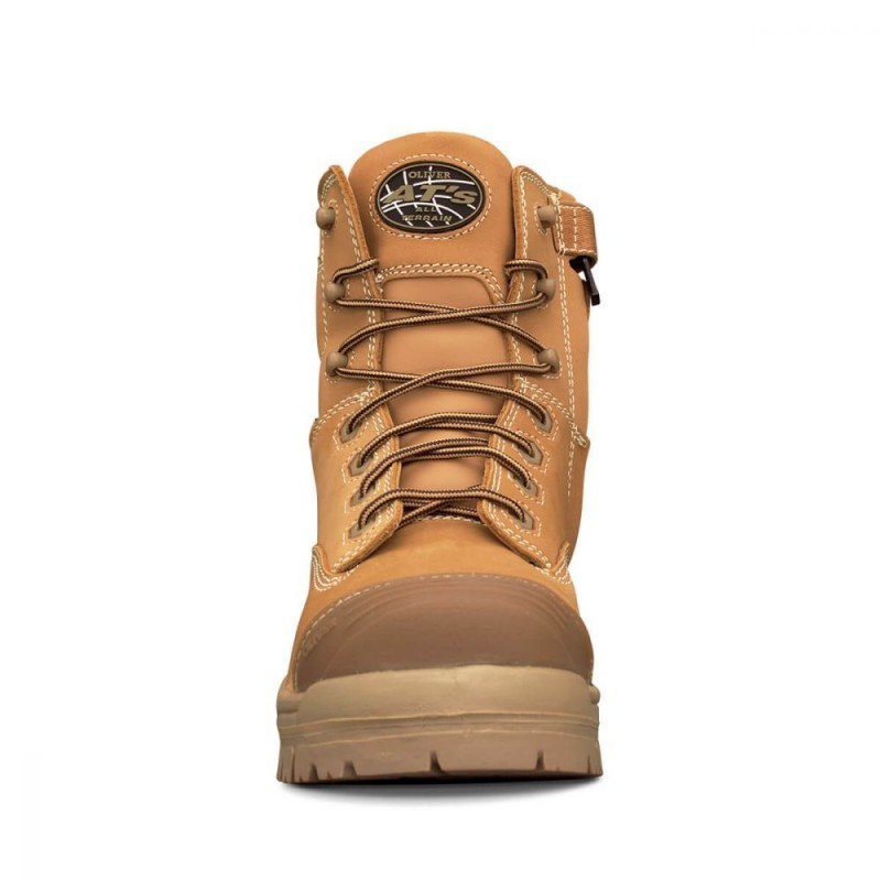 Oliver Work Boots 45632z 8 Zip Lace Up Non Metal Toe