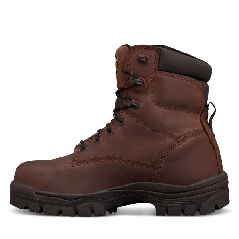 Oliver Work Boots 45637 Brown Fully Non Metallic Toe Cap