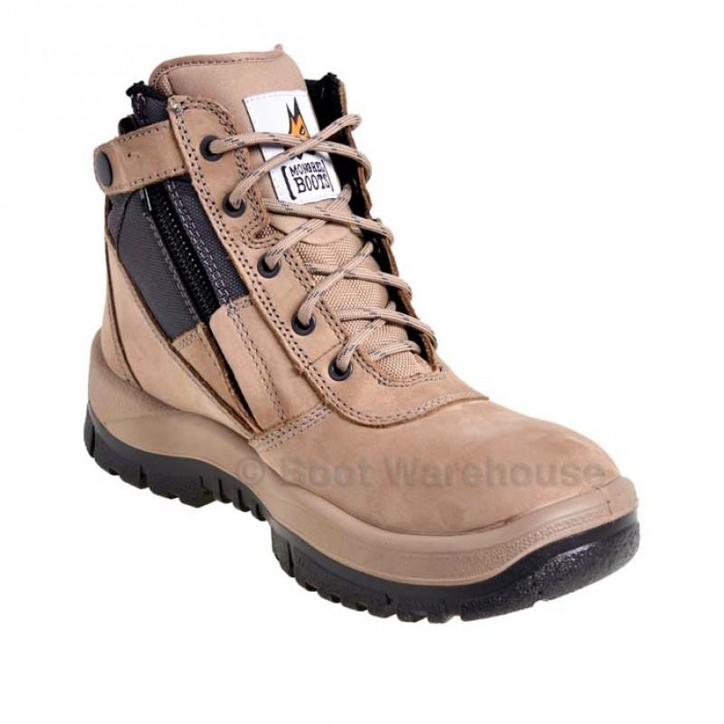 Mongrel 261060 Stone Work Boots Steel Toe Safety Zip