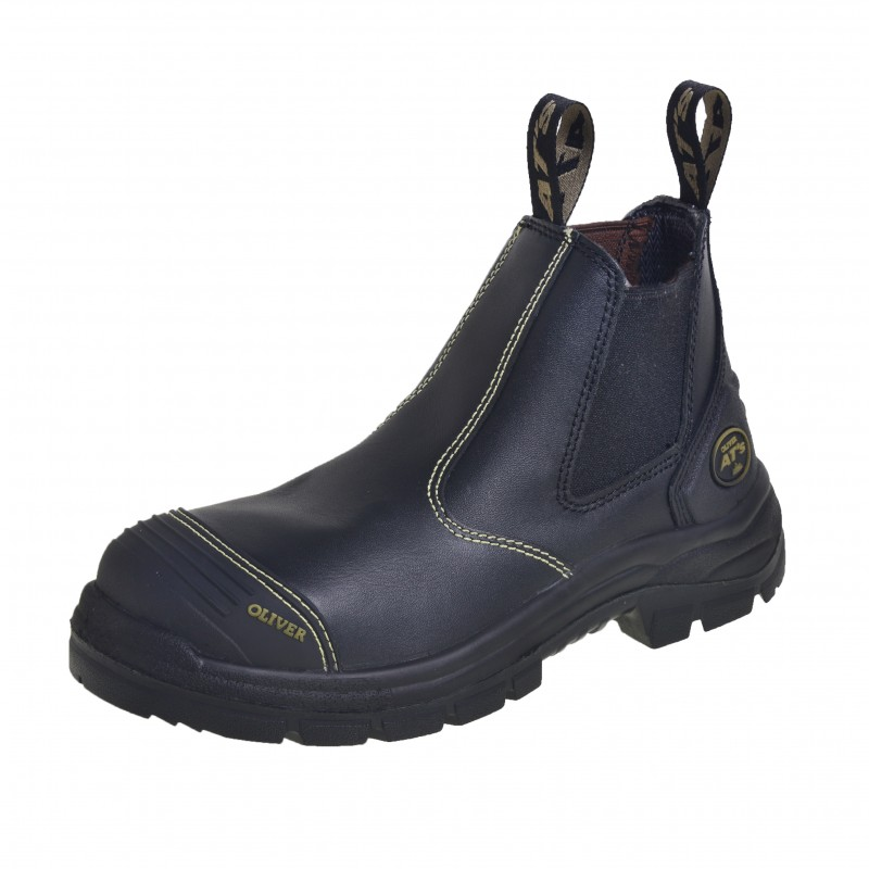 Oliver Work Boots 55320 Black Elastic Sided Water