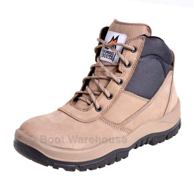 Mongrel 261060 Stone Work Boots Steel Toe Safety Zip