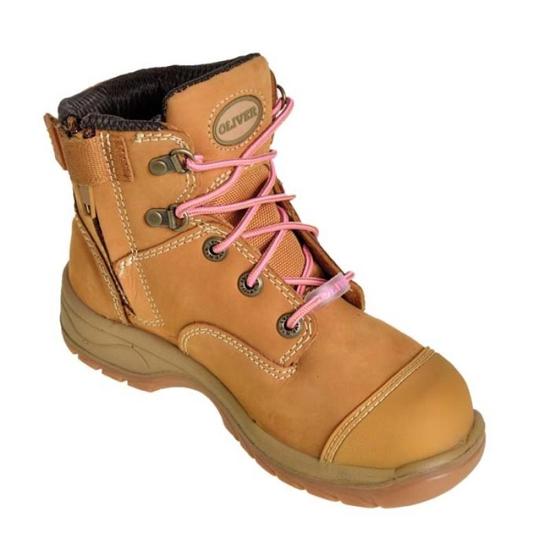 Oliver Work Boots 49432z Women S Wheat Nubuck Zip Side