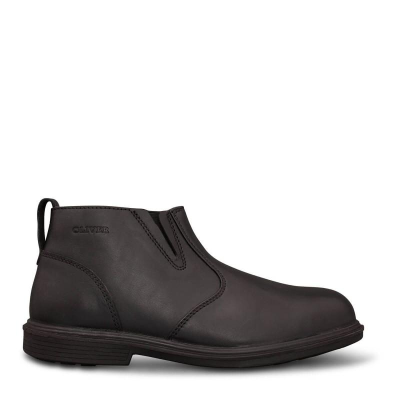 Oliver 38265 Black Zip Side Boot Executive Shoe Safety