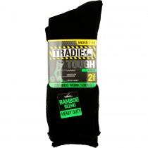 TRADIE BAMBOO SOCKS - 2 PACK - BLACK