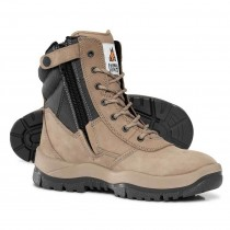 Mongrel 251060 STONE Steel Toe Work Boots. Lace Up Zip-Sider - Pre Order
