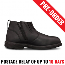 Oliver 38265 Black Zip Side Boot Executive Shoe - Safety Work Boot - Pre Order