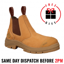 Oliver Work Boots 55322. Wheat, Elastic Sided, Steel Toe Safety. NEW STYLE!