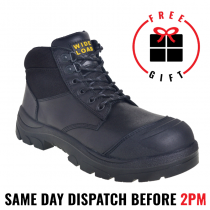 Wide Load 690BL, 15cm (6') Black Steel toe Lace Up Boot.