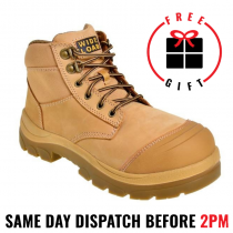 Wide Load 690WL, 15cm (6') Wheat Steel toe Lace Up Boot.
