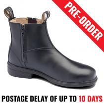 Blundstone 783 Executive Black Safety Black Work Boot, Zip Side - Pre Order