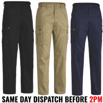 "Bisley ""BPC6007"" Men's 8 Pocket Cargo Cotton Drill Pants"