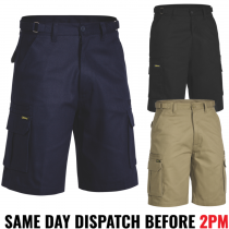 "Bisley ""BSHC1007"" Men's Cargo 8 pocket Work Shorts"