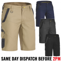 "Bisley ""BSHC1130"" Men's FLEX & MOVE - Stretch Work Shorts"