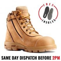 Redback USCWZS COBAR Safety Work Boot - Wheat - Side Zip