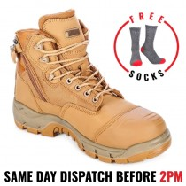 MAGNUM Sitemaster Lite Wheat Zip Sided Safety Boots - MSMR100