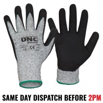 DNC Work Gloves Duratex Cut Resistant Level 5 Nitrile Sand Finish - 3PACK
