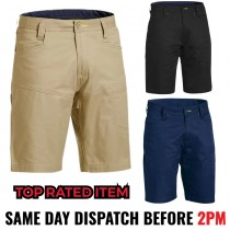 """Bisley """"BSH1474"""" Men's X Airlow RipStop Stretch Work Shorts"""