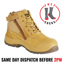 Hard Yakka Y60120 'UTILITY WHEAT' Safety Work Boots