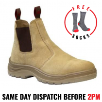 """KingGee """"K25180 FLINDERS SAND"""" Pull-On Safety Work Boot"""