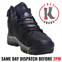 "CAT ""CONVEX"" Black Steel Toe Safety Work Boot"