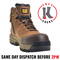 "Cat ""DEVICE"" Dark Beige Composite Safety Work Boot - 100% Waterproof"