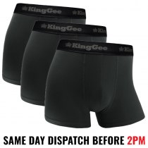 "KingGee ""K19005"" Bamboo Work Trunk Undies 3 PACK"
