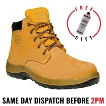 Oliver Work Boots 34632. Steel Toe Safety. 'Nubuck' Lace-Up Ankle Boots.