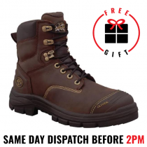 """Oliver 55337 Brown 150mm (6"""") Safety Lace Up Work Boot"""