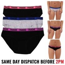 "Tradie Women's ""FOCUS BIKINI"" Underwear - 3 PACK"