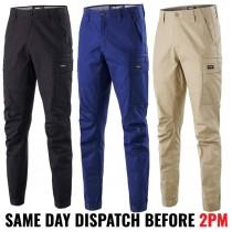 "KingGee ""K13011"" Men's Cuffed WorkCool Pro Stretch Ripstop Cotton Pants"
