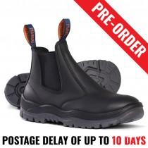 Mongrel 240020, Work Boots. Steel Toe Safety. Black. Elastic Sided PRE ORDER