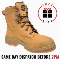 """Oliver Work Boots 55332, 150mm (8""""), Lace-Up 'Wheat', Steel Toe Cap Safety."""