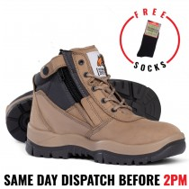 Mongrel 261060 Stone Work Boots. Steel Toe Safety. Zip-Sider, NEW STYLE!
