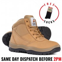 Mongrel 260050 Wheat Steel Toe Work Boot. Updated Style!