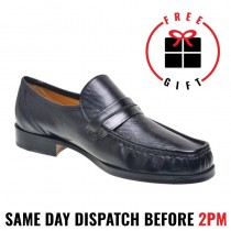 "Gardini "" Milan Black"" Moccasin - Loafer Leather Dress Shoe"