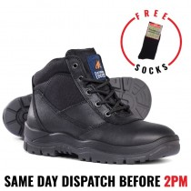 Mongrel 260020 Black Steel Toe Work Boots. Updated Style!