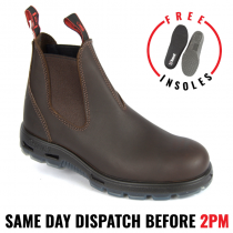 Redback UNPU Nevada 'Puma' Work Boots. Elastic Sided. Soft Toe.